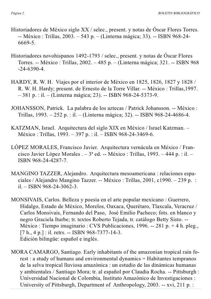 Página 2                                                          BOLETIN BIBLIOGRÁFICO    Historiadores de México siglo X...