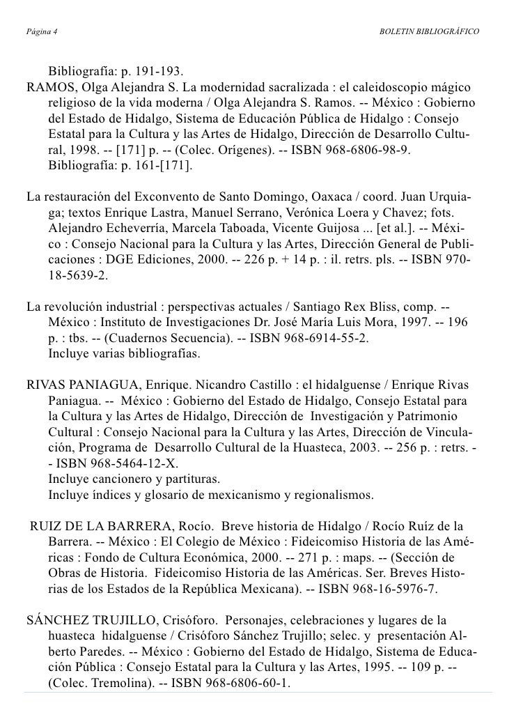 Página 4                                                          BOLETIN BIBLIOGRÁFICO      Bibliografía: p. 191-193. RAM...