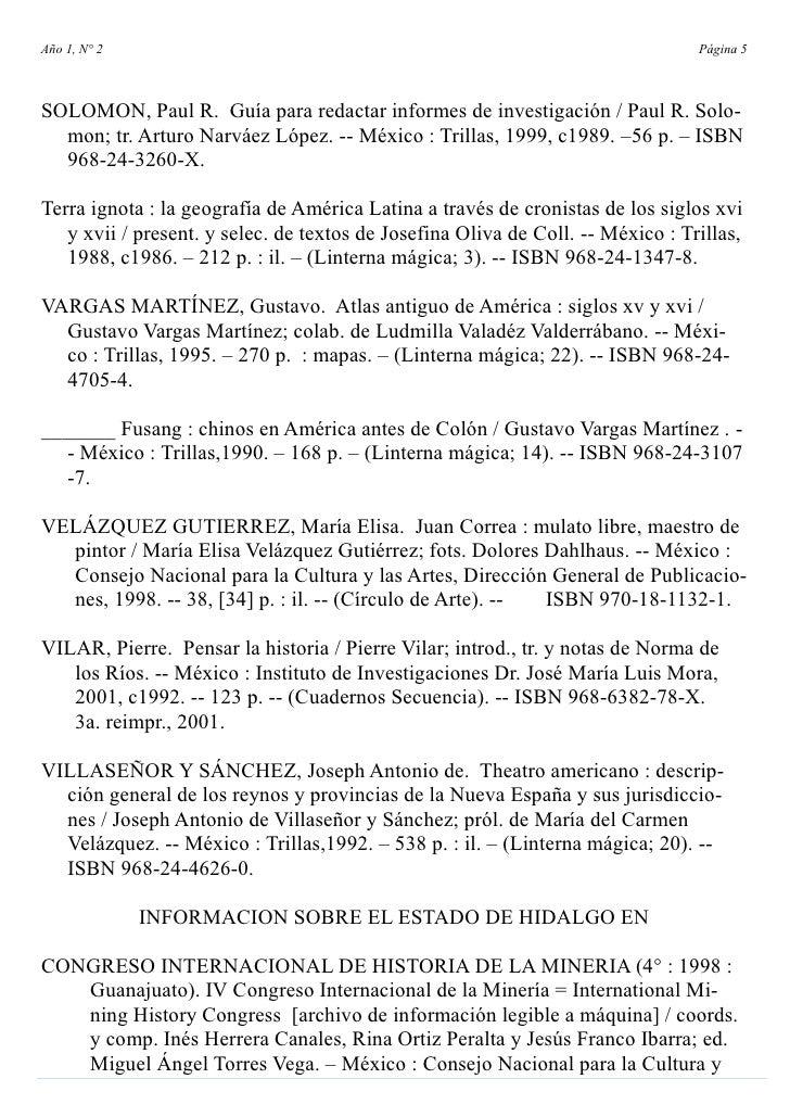 Año 1, N° 2                                                                      Página 5    SOLOMON, Paul R. Guía para re...