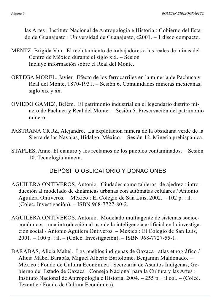 Página 6                                                               BOLETIN BIBLIOGRÁFICO               las Artes : Ins...