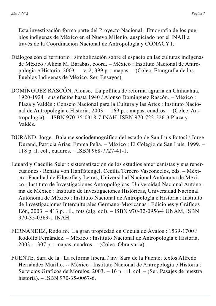 Año 1, N° 2                                                                    Página 7        Esta investigación forma pa...