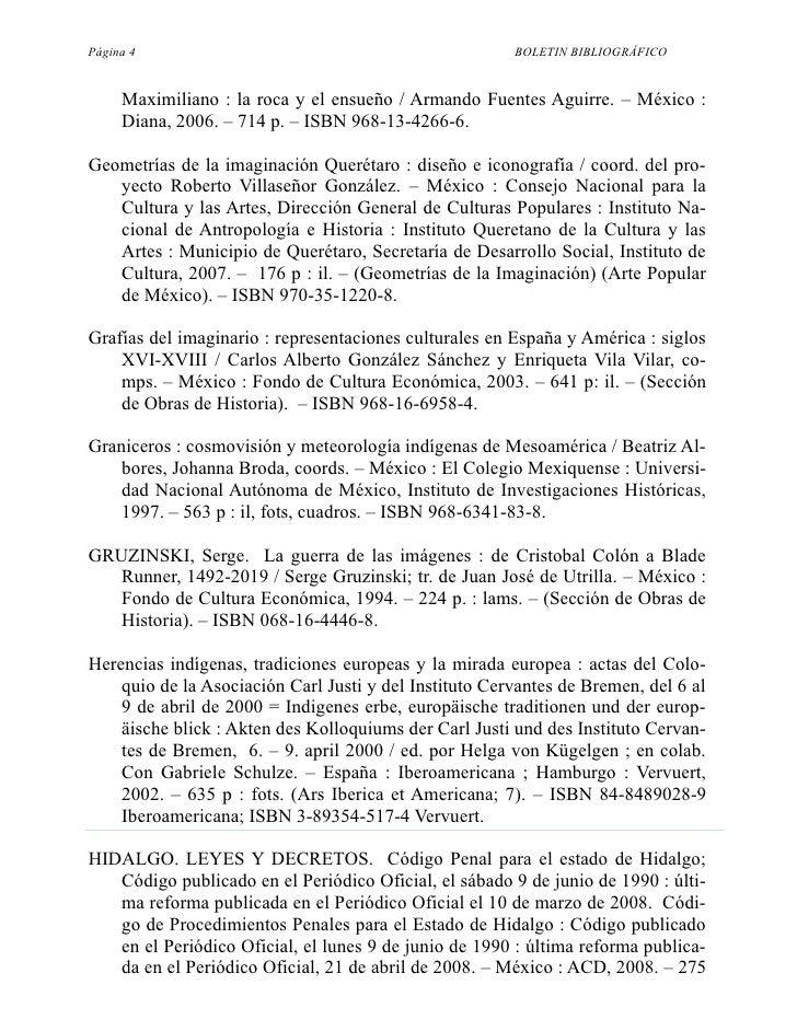 Página 4                                                BOLETIN BIBLIOGRÁFICO        Maximiliano : la roca y el ensueño / ...