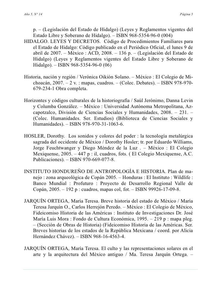 Año 5, N° 14                                                              Página 5       p. – (Legislación del Estado de H...