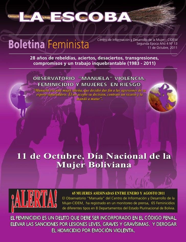 Boletina Feminista                                                  Centro de Información y Desarrollo de la Mujer - CIDEM...