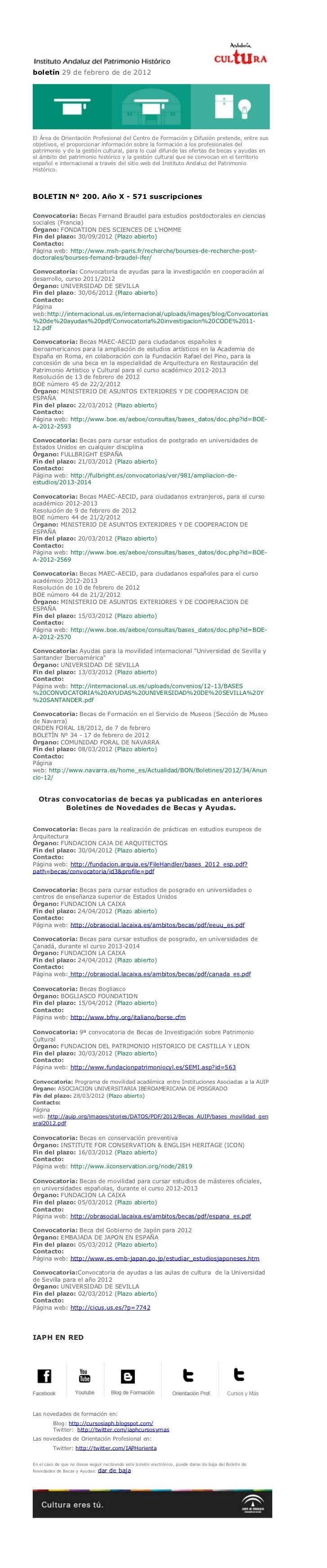 boletín 29 de febrero de de 2012El Área de Orientación Profesional del Centro de Formación y Difusión pretende, entre suso...