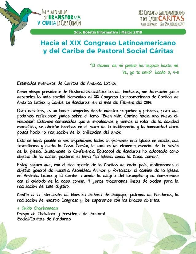 XIX Congreso Latinoamericano y del CaribeCárITas ValledeÁngeles-18al25defebrerode2019 2do. Boletín Informativo | Marzo 201...