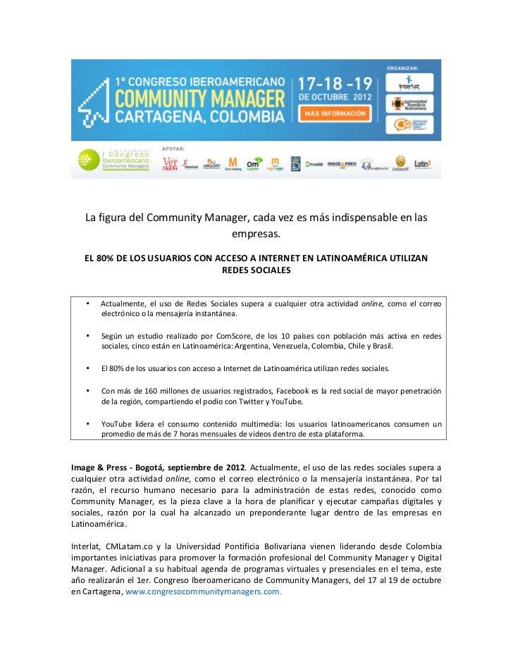 La figura del Community Manager, cada vez es más indispensable en las                  ...