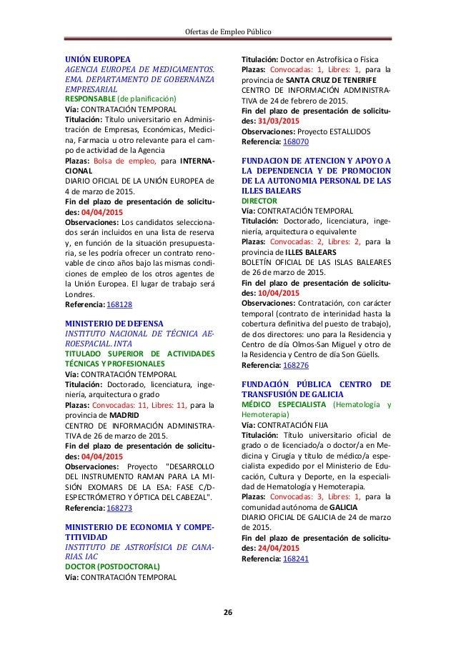 Ofertas de Empleo Público 26 UNIÓN EUROPEA AGENCIA EUROPEA DE MEDICAMENTOS. EMA. DEPARTAMENTO DE GOBERNANZA EMPRESARIAL RE...