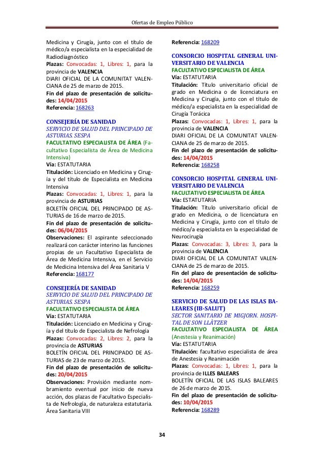 Ofertas de empleo público y de pruebas de capacitación profesional - Semana 14/2015