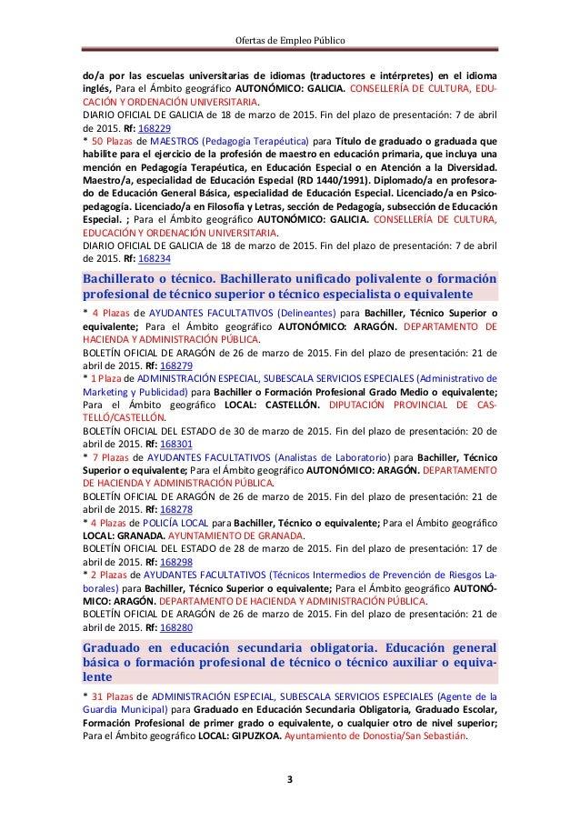 Ofertas de Empleo Público 3 do/a por las escuelas universitarias de idiomas (traductores e intérpretes) en el idioma inglé...