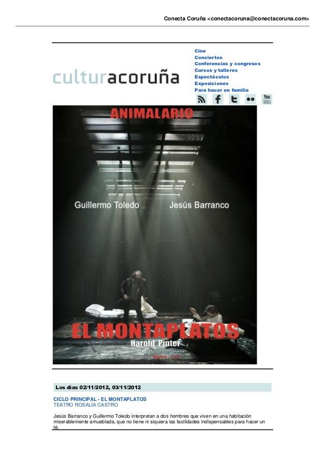 Conecta Coruña <conectacoruna@conectacoruna.com>                                                               Cine       ...