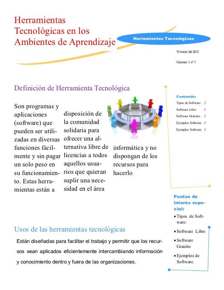 HerramientasTecnológicas en los                                                     Herramientas TecnológicasAmbientes de ...