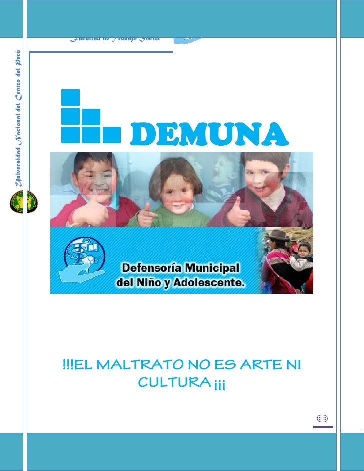 Facultad de Trabajo SocialUniversidad Nacional del Centro del Perú                                                        ...