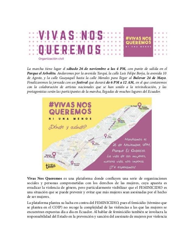 La marcha tiene lugar el sábado 26 de noviembre a las 4 PM, con punto de salida en el Parque el Arbolito. Andaremos por la...