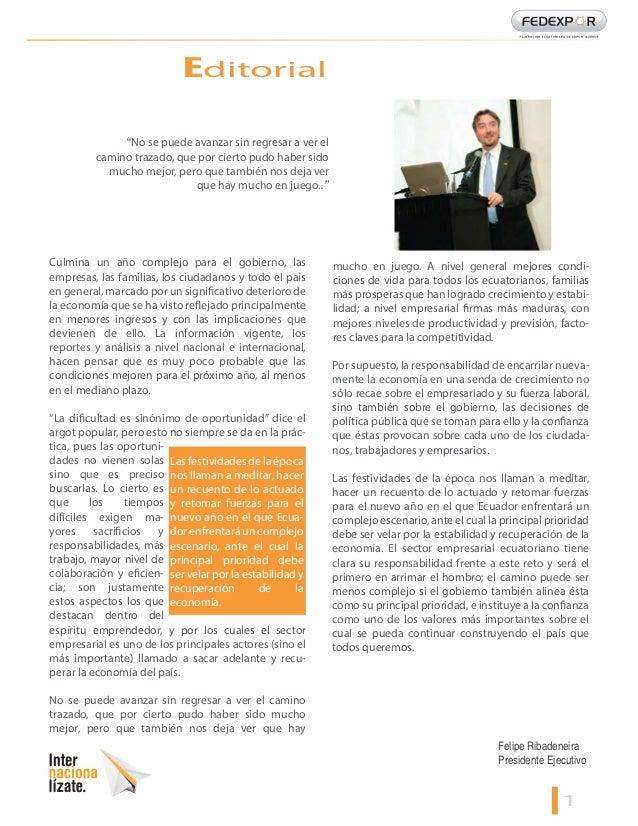 Informativo mensual de comercio exterior fedexpor for Comercio exterior
