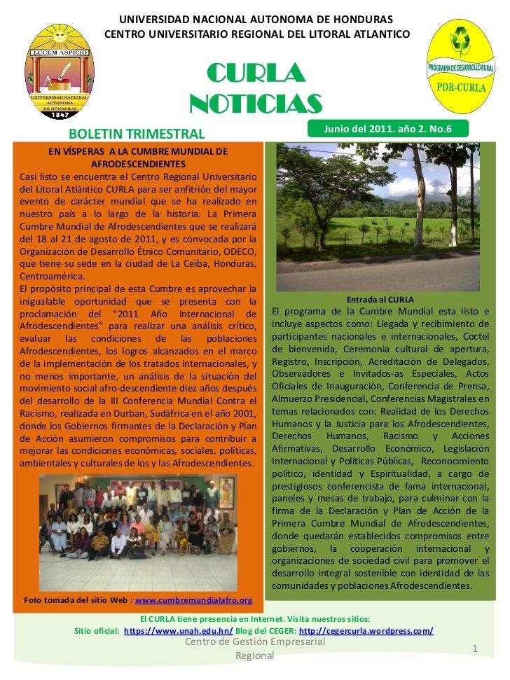 UNIVERSIDAD NACIONAL AUTONOMA DE HONDURAS                   CENTRO UNIVERSITARIO REGIONAL DEL LITORAL ATLANTICO           ...