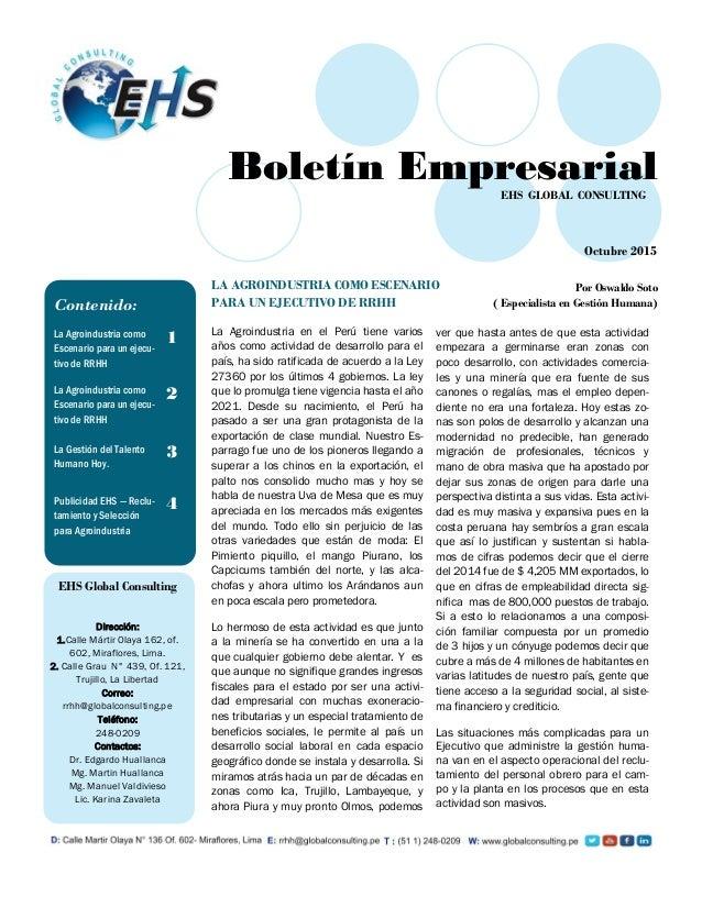 La Agroindustria en el Perú tiene varios años como actividad de desarrollo para el país, ha sido ratificada de acuerdo a l...