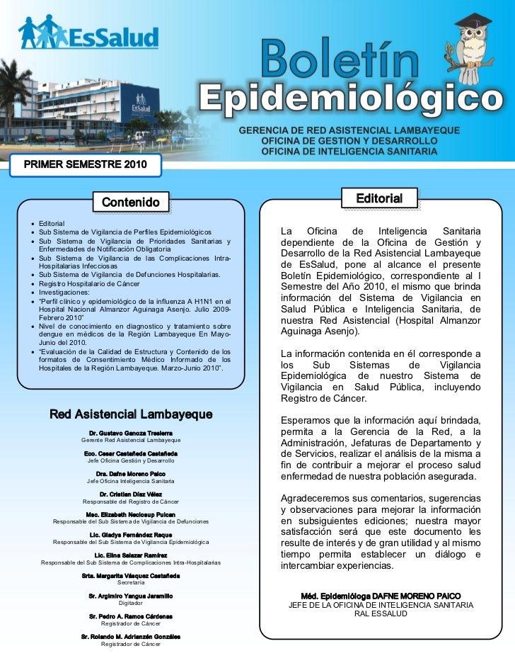PRIMERSEMESTRE2010                          Contenido                                                        Editorial...