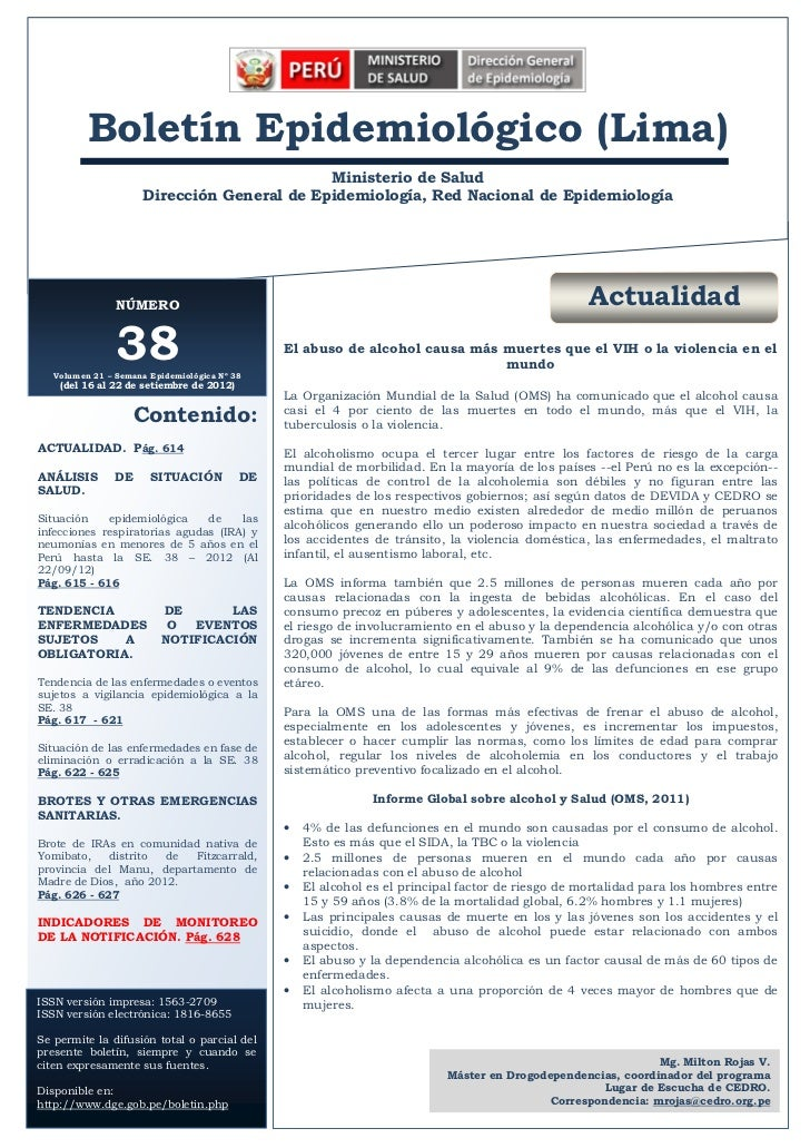 2012       Bol. Epidemiol. (Lima) 21 (38)  A           Boletín Epidemiológico (Lima)                                      ...