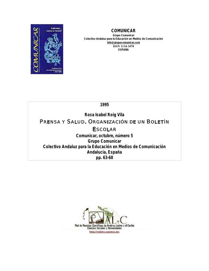 COMUNICAR                                             Grupo Comunicar                      Colectivo Andaluz para la Educa...