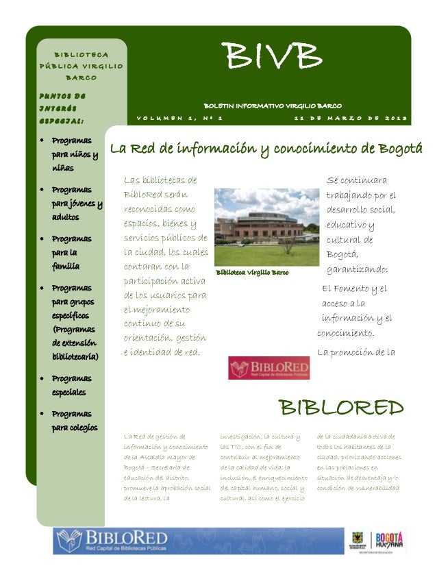 BIBLIOTECAPÚBLICA VIRGILIO        BARCO                                                            BIVBPUNTOS DEINTERÉS   ...