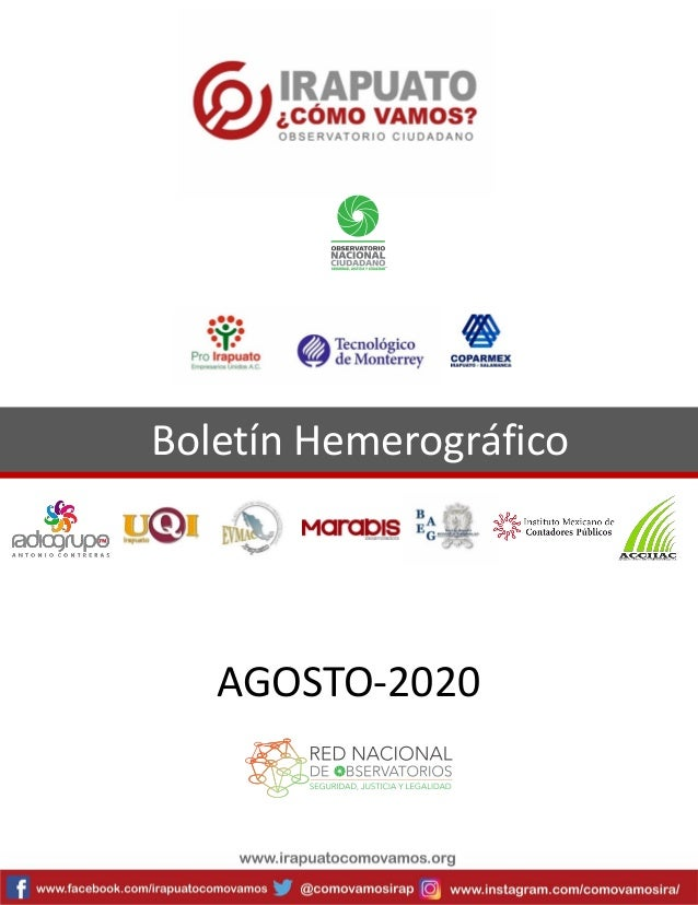 Boletín Hemerográfico AGOSTO-2020