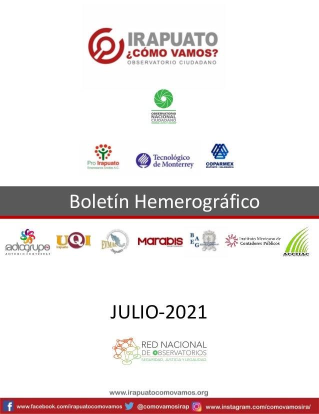 Boletín Hemerográfico JULIO-2021