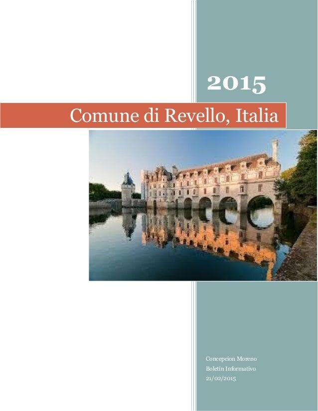 2015 Concepcion Moreno Boletín Informativo 21/02/2015 Comune di Revello, Italia