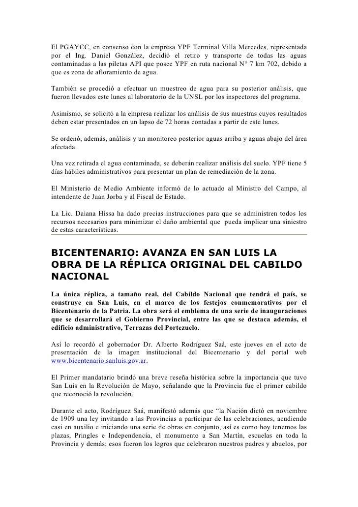Boletin Informativo 14 12 09