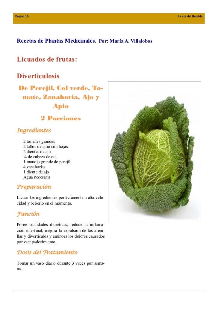 Boletin la voz del heraldo no 2 05 2009 for Tipos de hierbas medicinales