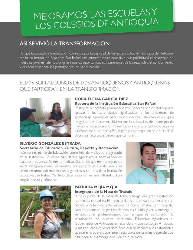 ASÍ SEVIVIÓ LA TRANSFORMACIÓN Porque la calidad de la educación comienza por la dignidad de los espacios, hoy el municipio...