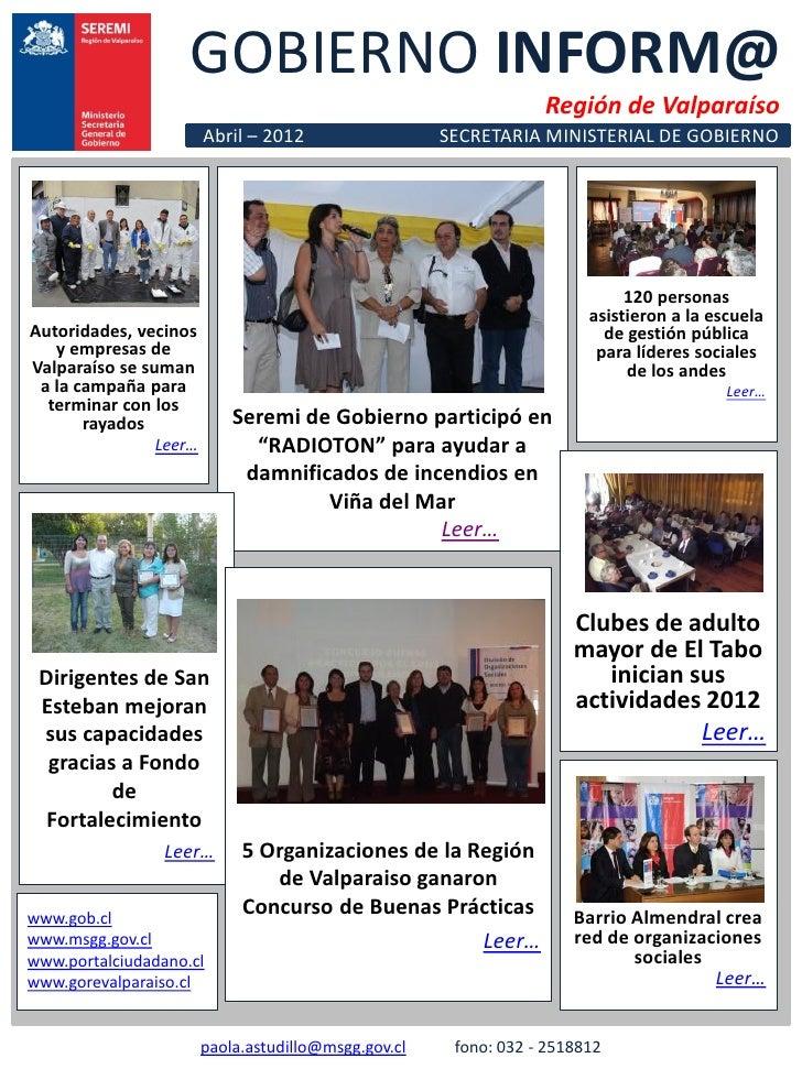 GOBIERNO INFORM@                                                                 Región de Valparaíso                     ...