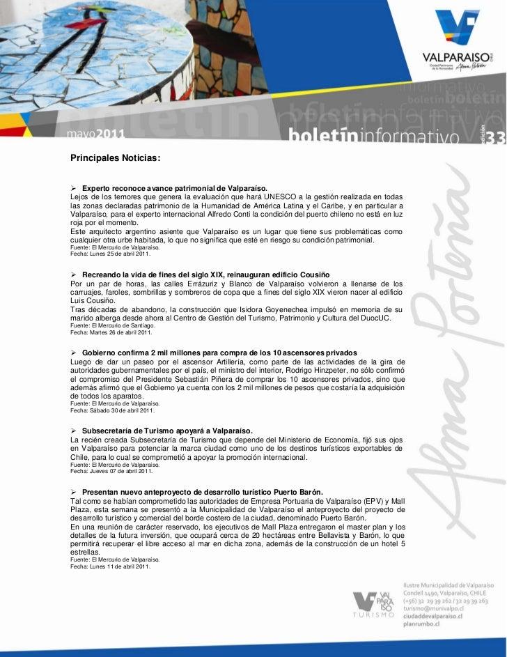 Principales Noticias: Experto reconoce avance patrimonial de Valparaíso.Lejos de los temores que genera la evaluación que...