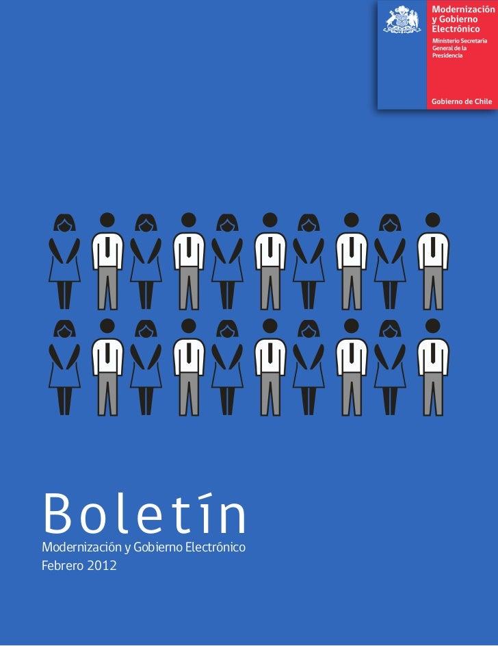 BoletínModernización y Gobierno ElectrónicoFebrero 2012