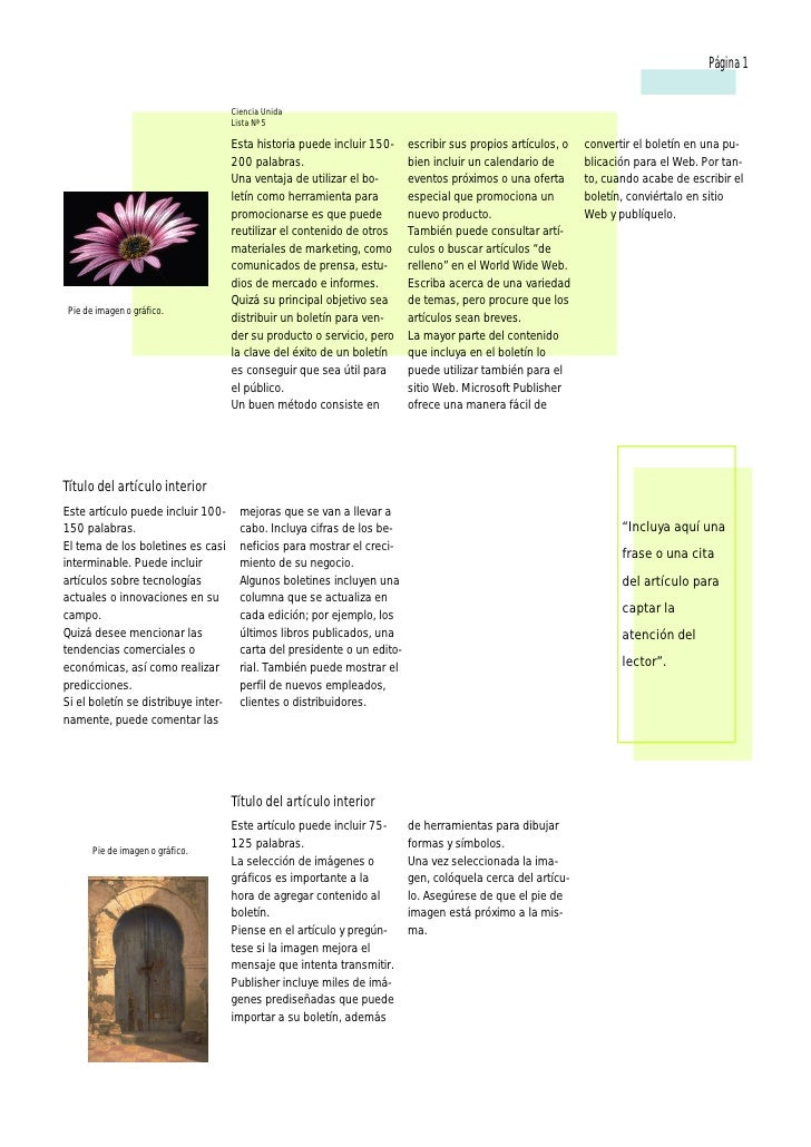 Página 1                                     Ciencia Unida                                     Lista Nª 5                 ...
