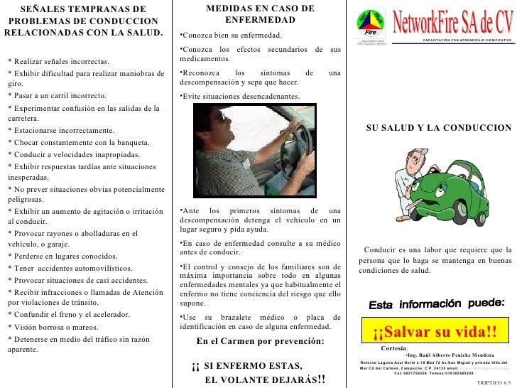 En el Carmen por prevención:  ¡¡   SI ENFERMO ESTAS,  EL VOLANTE DEJARÁS !! Esta  información  puede: ¡¡Salvar su vida!! <...