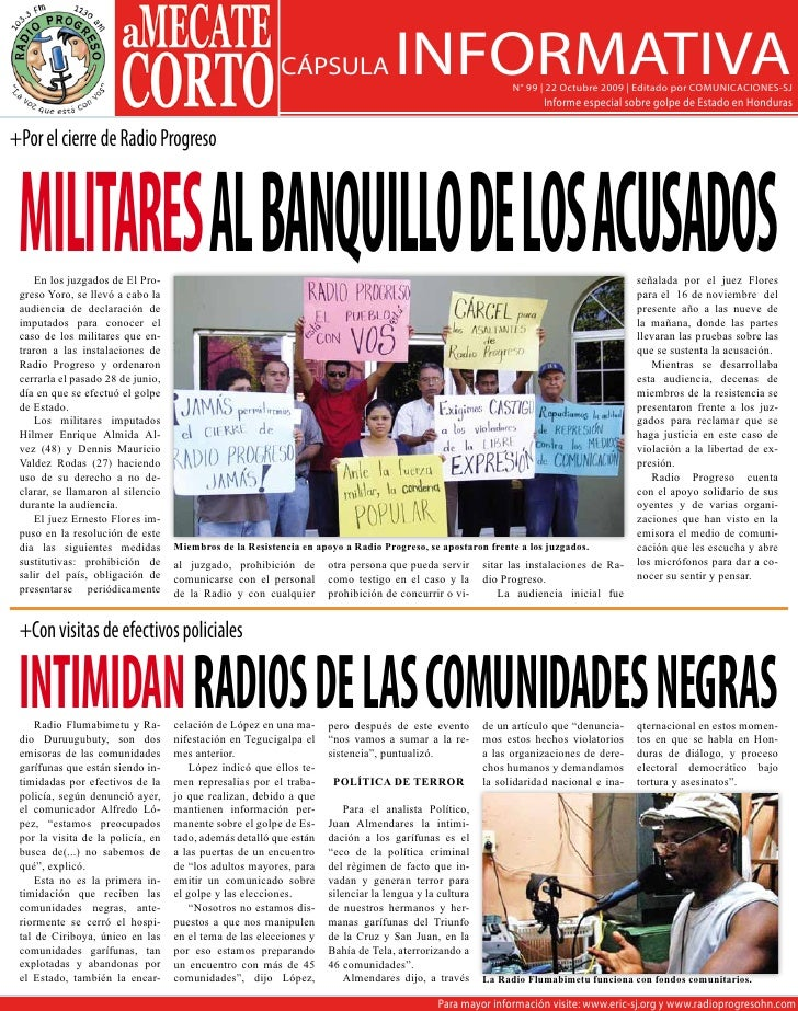 CÁPSULA                   INFORMATIVA               N° 99   22 Octubre 2009   Editado por COMUNICACIONES-SJ               ...