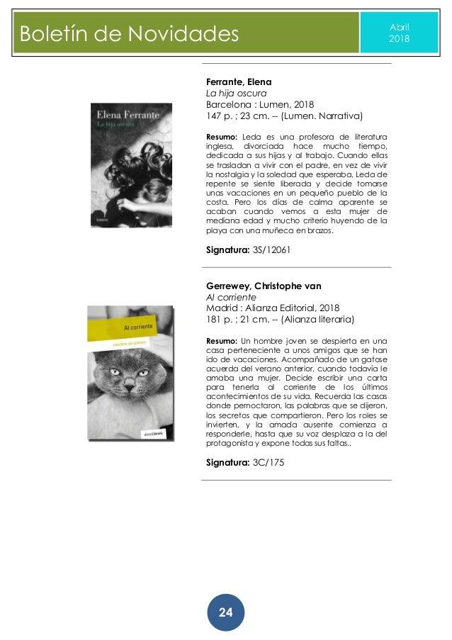 Boletin novidades abril_2018  biblioteca da deputacion da coruna