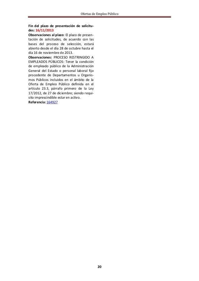 Boletin oferta empleo p 29 oct a 4 nov for Ofertas de empleo en fabricas