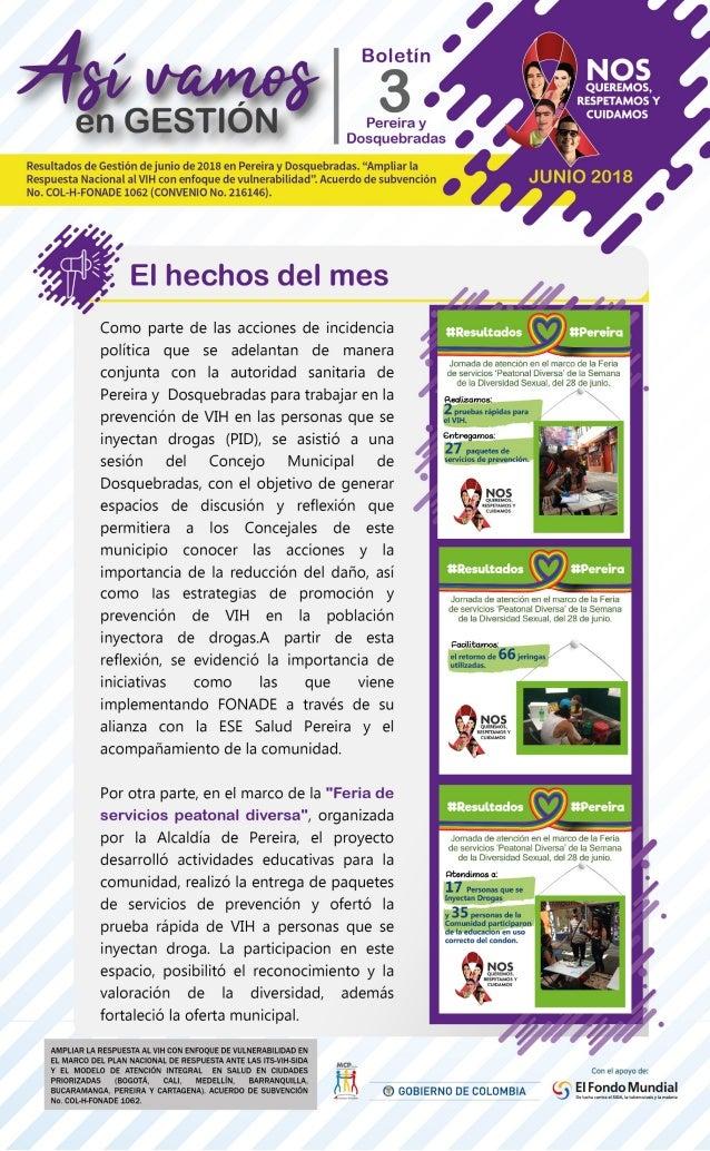 Boletín Así Vamos en Pereira - Junio 2018