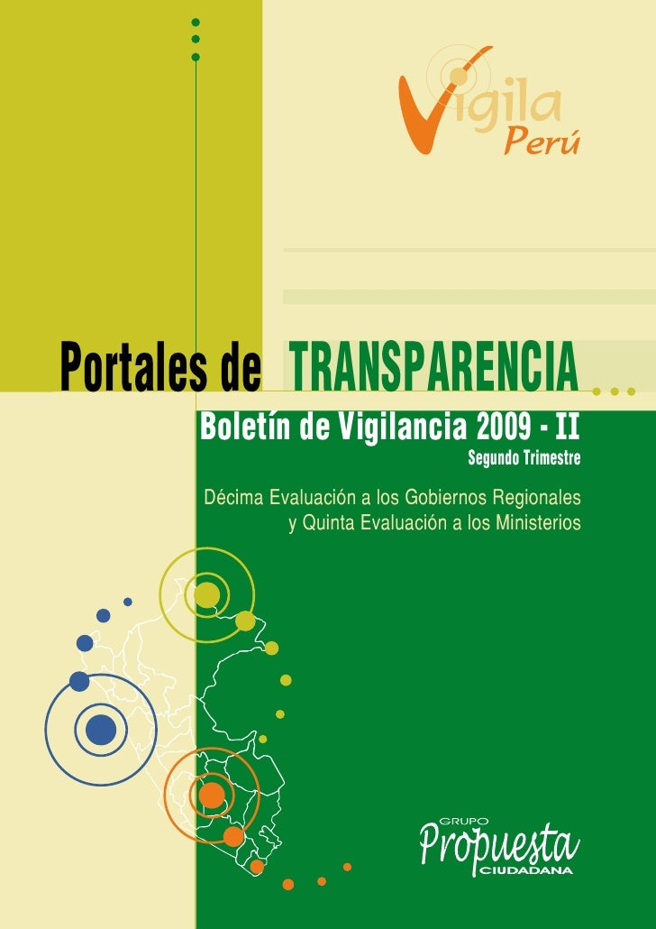 Portales de TRANSPARENCIA       Boletín de Vigilancia 2009 - II                                       Segundo Trimestre   ...