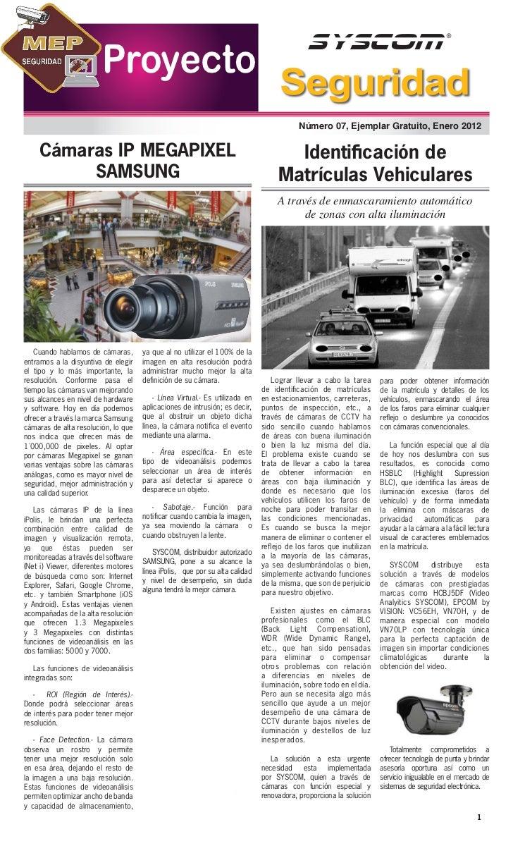 Proyecto Seguridad, Enero 2012                        Proyecto                                                            ...