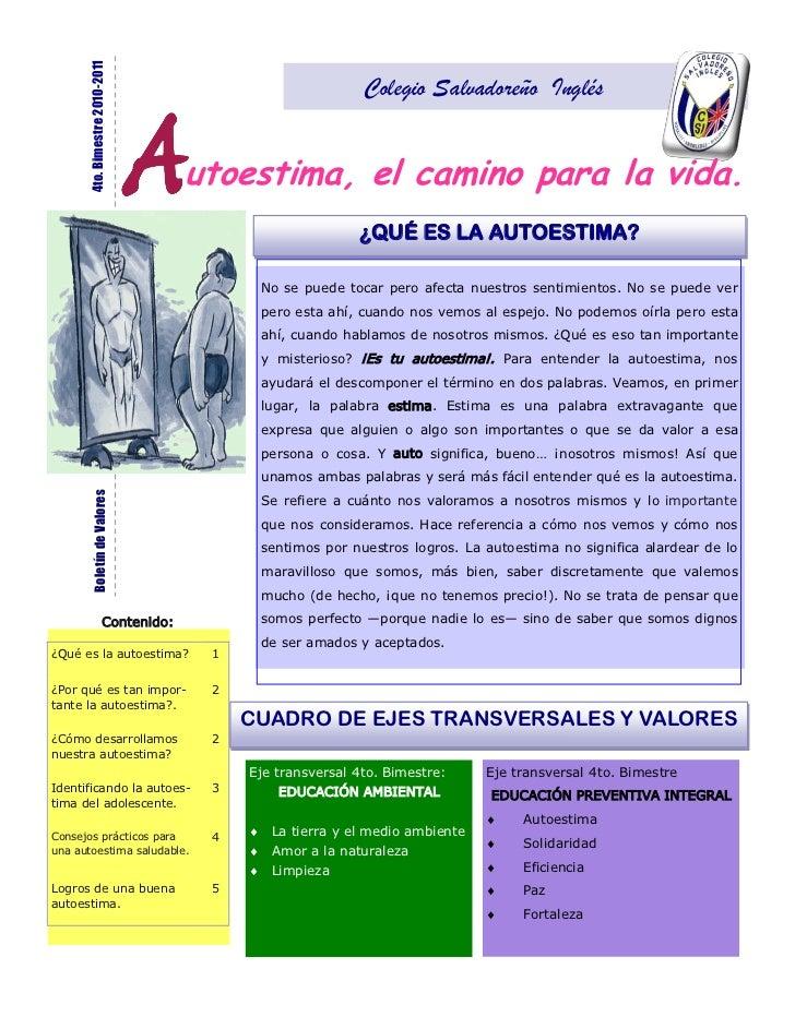 4to. Bimestre 2010-2011                                                            Colegio Salvadoreño Inglés             ...