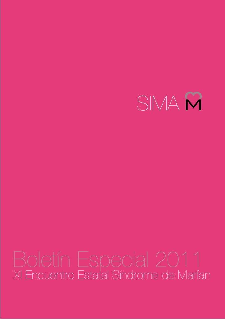 SIMABoletín Especial 2011XI Encuentro Estatal Síndrome de Marfan