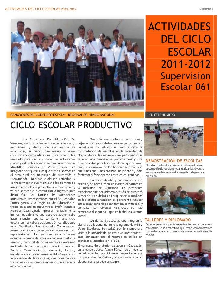 ACTIVIDADES DEL CICLO ESCOLAR 2011-2012                                                                                   ...