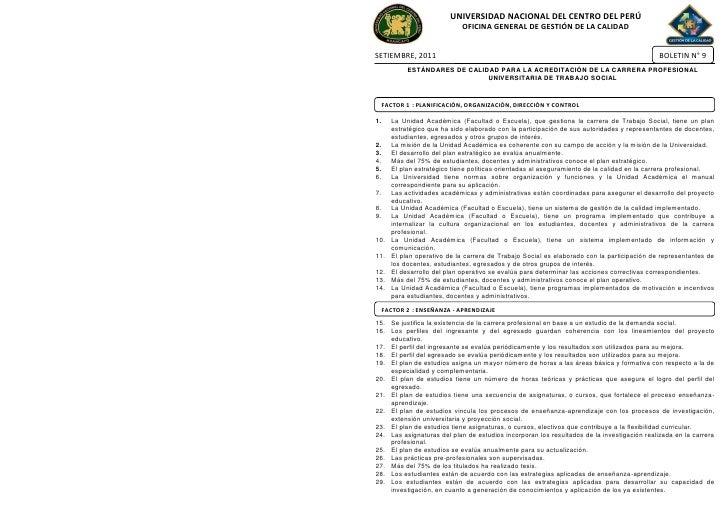 UNIVERSIDAD NACIONAL DEL CENTRO DEL PERÚ                             OFICINA GENERAL DE GESTIÓN DE LA CALIDADSETIEMBRE, 20...