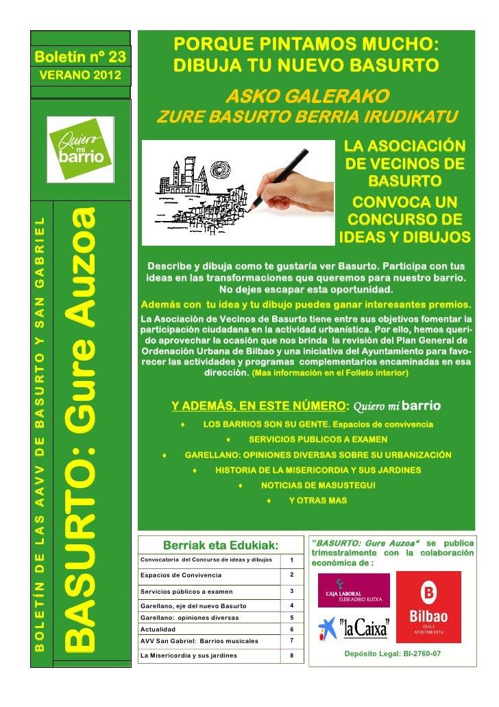 PORQUE PINTAMOS MUCHO:     Boletín nº 23                      VERANO 2012                                                 ...