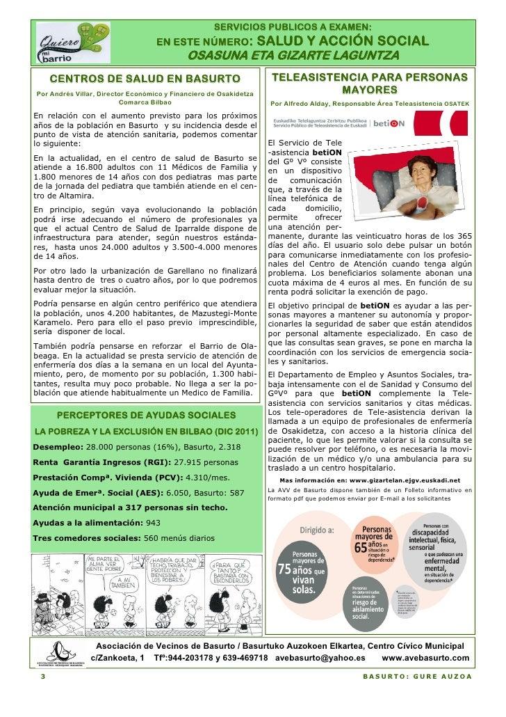 SERVICIOS PUBLICOS A EXAMEN:                                   EN ESTE NÚMERO:                 SALUD Y ACCIÓN SOCIAL      ...