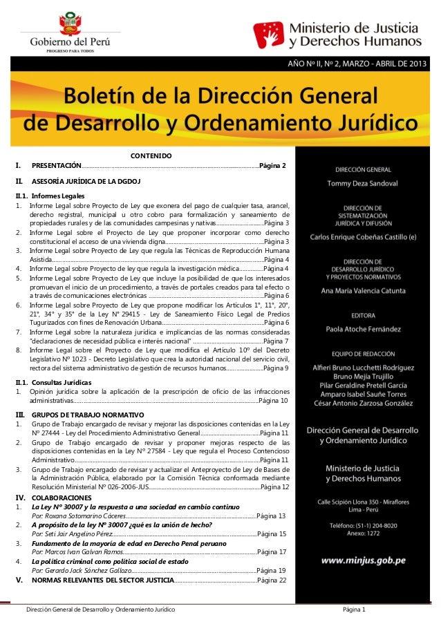Dirección General de Desarrollo y Ordenamiento Jurídico Página 1 CONTENIDO I. PRESENTACIÓN……………………………..………...………………….….……....