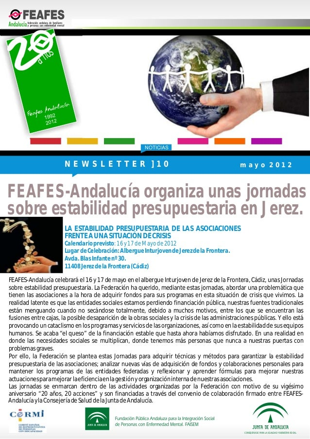 NOTICIASFEAFES-Andalucía celebrará el 16 y 17 de mayo en el albergue Inturjoven de Jerez de la Frontera, Cádiz, unas Jorna...